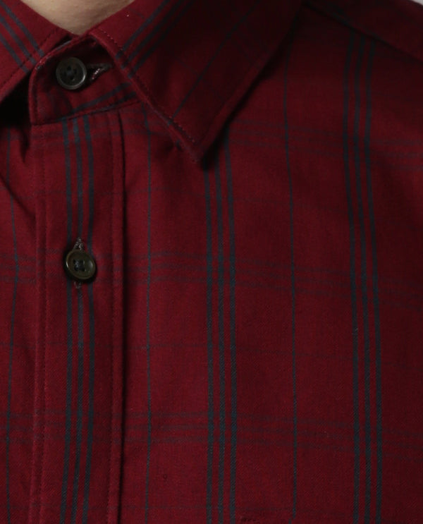 PLAN-CHECK SHIRT-RED SHIRT RARE RABBIT