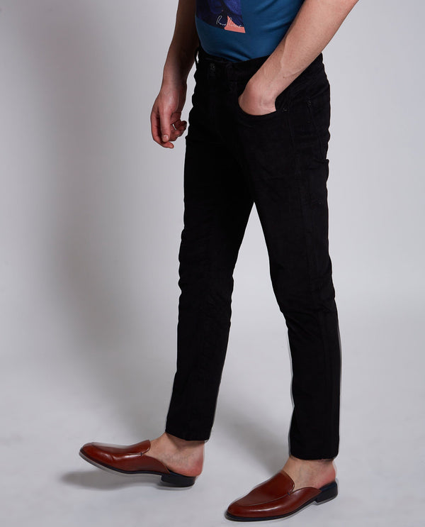 ROLOX CORD-5 Pocket-BLACK TROUSERS RARE RABBIT