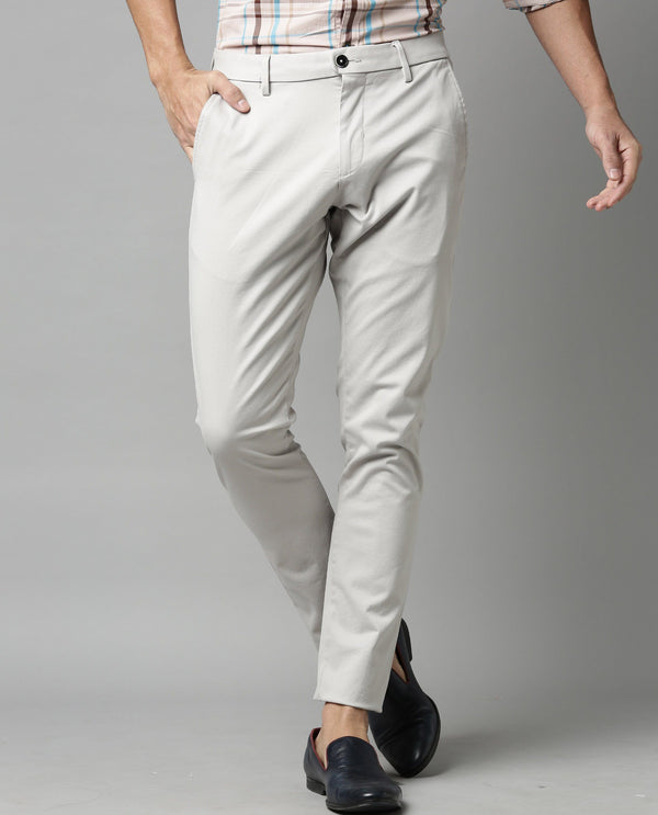 RUGBY-SOLID STRETCH TROUSER-GREY TROUSERS RARE RABBIT
