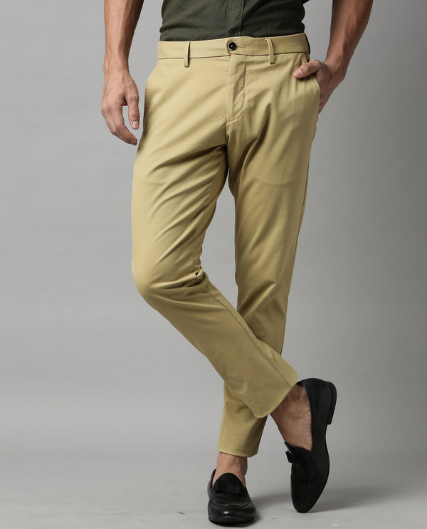 RUGBY-SOLID STRETCH TROUSER-KHAKI TROUSERS RARE RABBIT