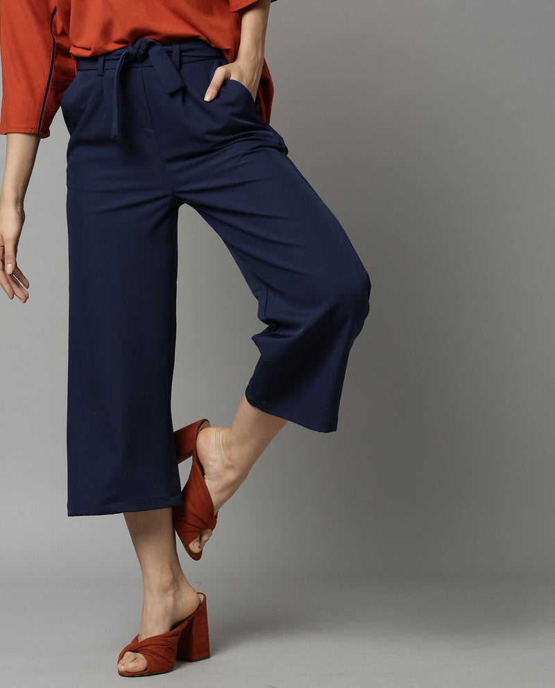 TEMPT-SOLID STRAIGHT TROUSER-NAVY TROUSERS RAREISM