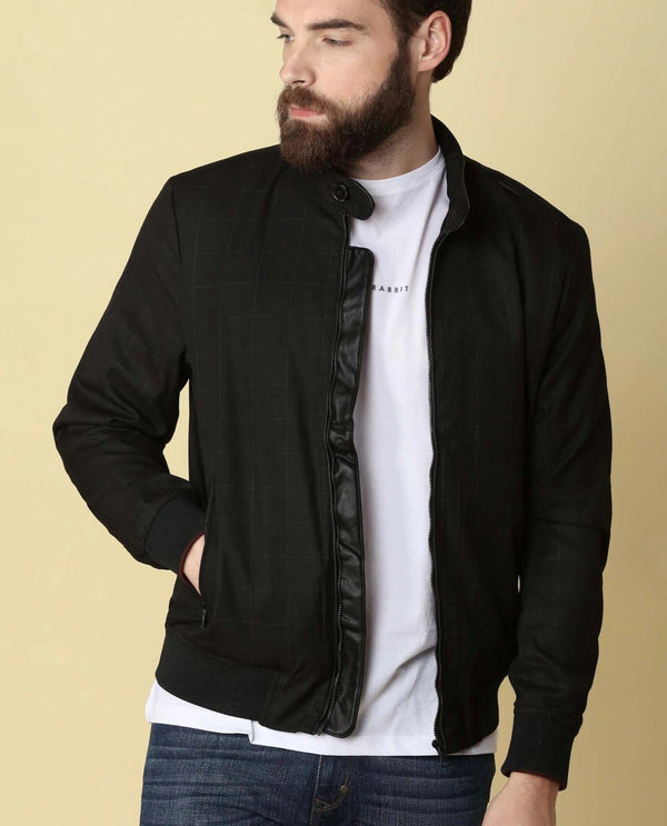 GREGOR- COTTON JACKET BLACK