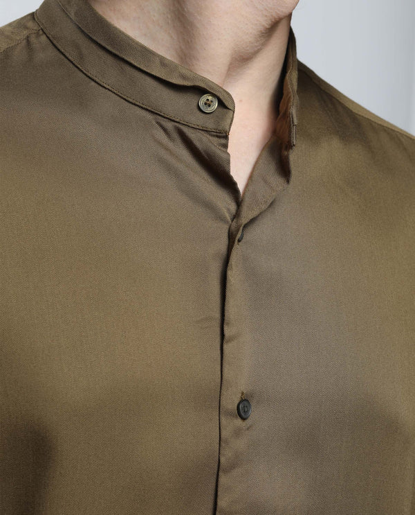 WORK-Sheen Shirt-OLIVE