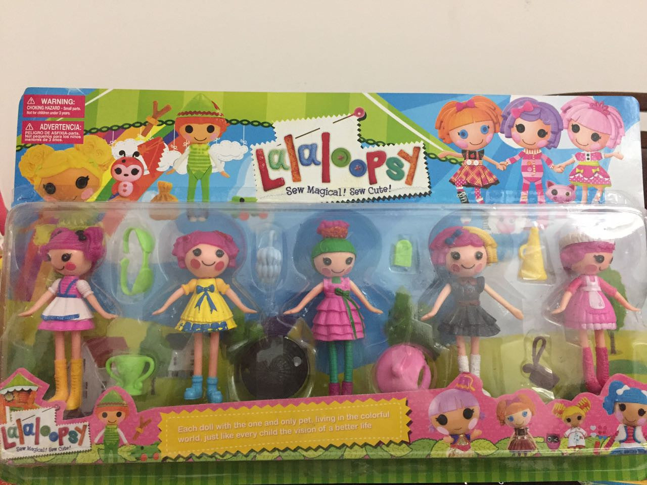 5pcs/set Lalaloopsy Figures Doll with Accessories | SarahSale.Com