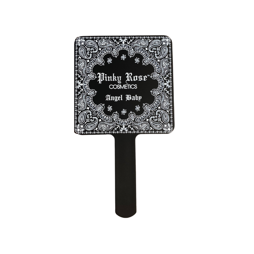 Angel Baby - Black Bandana Hand Mirror