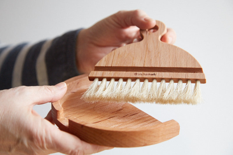 ethically produced iris hantverk table brush
