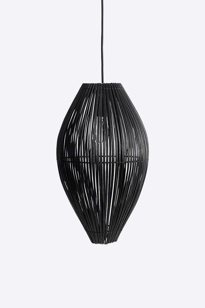 bamboo fishtrap pendant medium black