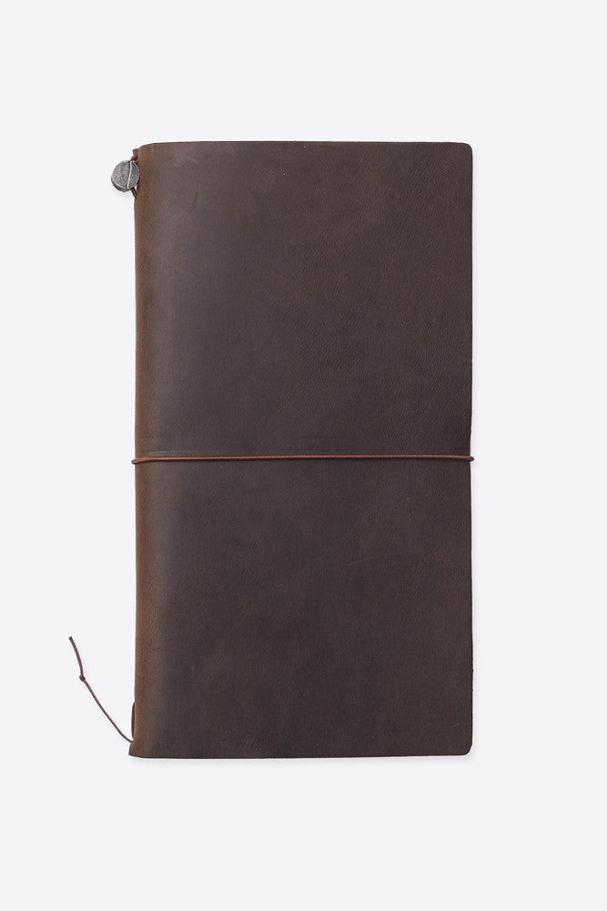 high quality brown leather covered notebook