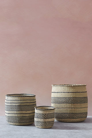 Iringa Basket - Natural and Black