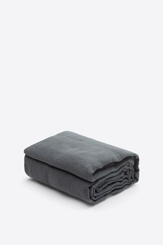 Linen Duvet Cover - Charcoal - Oggetto