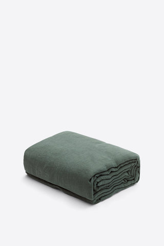 Products SAMPLE 100% Linen Duvet Cover - Forest Green - Oggetto