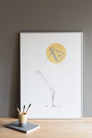 Task Light Screen Print - Mustard