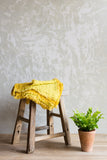 mustard waffled linen throw living room