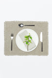 natural linen placemat and dinner napkin