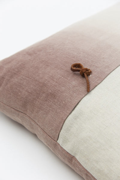 Linen Colour Gradient Cushion - Nutbrown - Oggetto