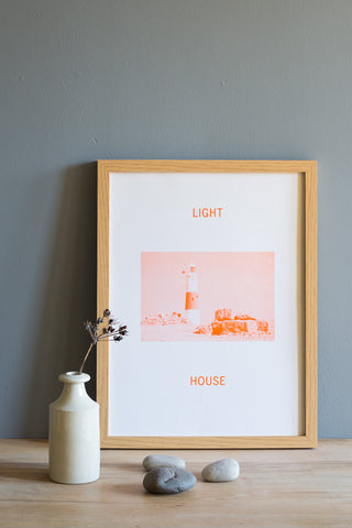 Light House Print - Orange