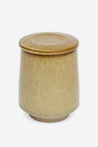 Pottery West Lidded Jar - Raw Sienna - Oggetto