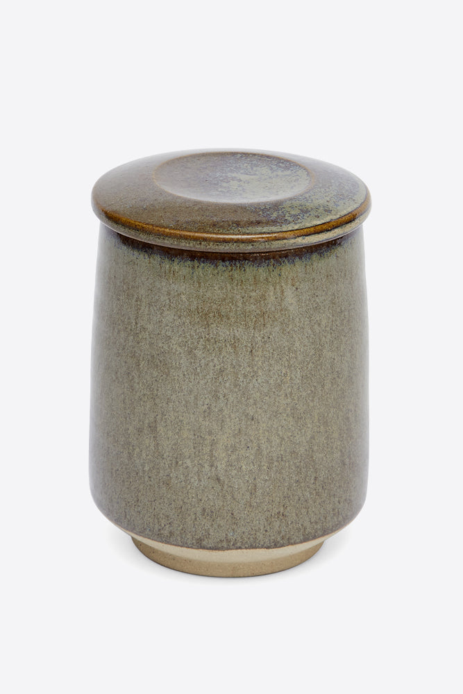 Pottery West Lidded Jar - Slate - Oggetto