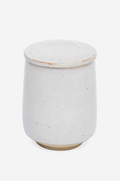 Pottery West Lidded Jar - White - Oggetto