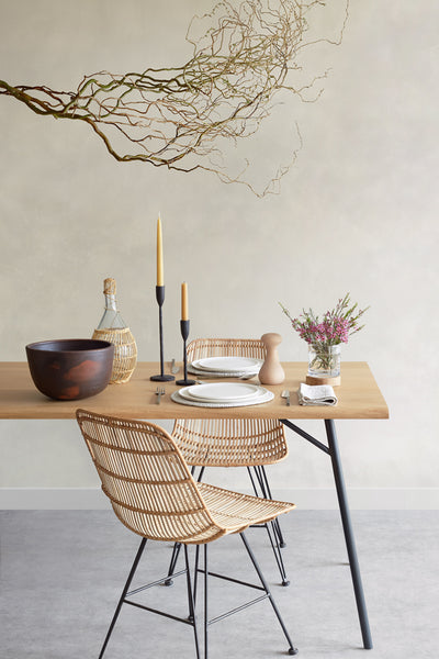 Rattan Dining Chair - Natural - Oggetto
