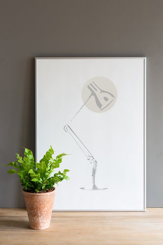 Task Light Screen Print - Taupe