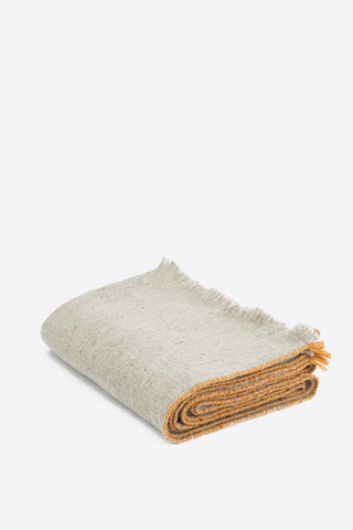 Merino Wool Throw - Orange Edge - Oggetto