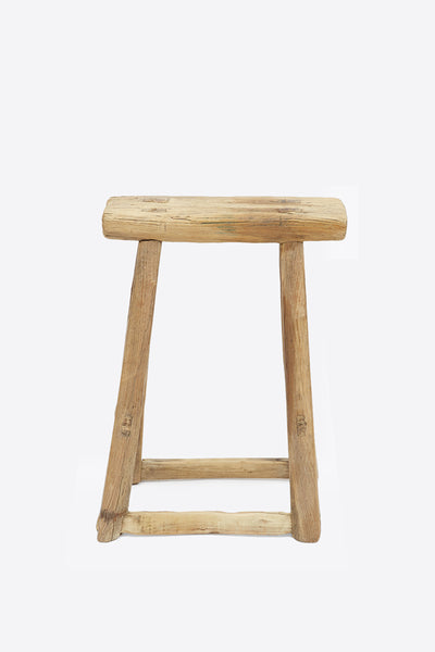 Vintage Elm Stool - Rectangular No.10 - Oggetto