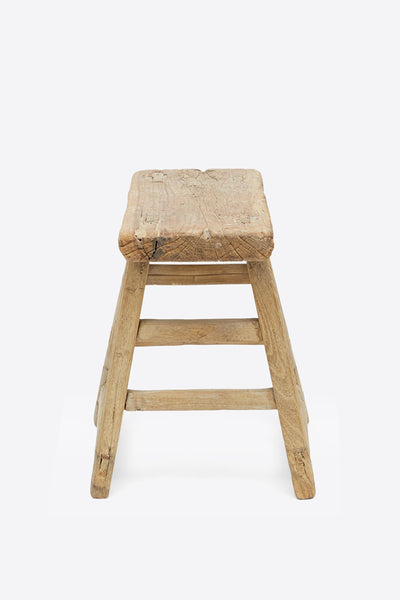 Vintage Elm Stool - Rectangular No.11 - Oggetto