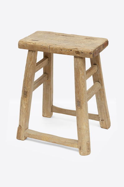 Vintage Elm Stool - Rectangular No.12 - Oggetto