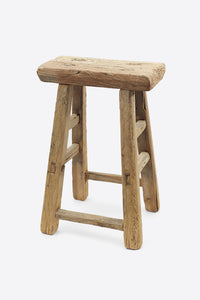 Vintage Elm Stool - Rectangular No.15 - Oggetto