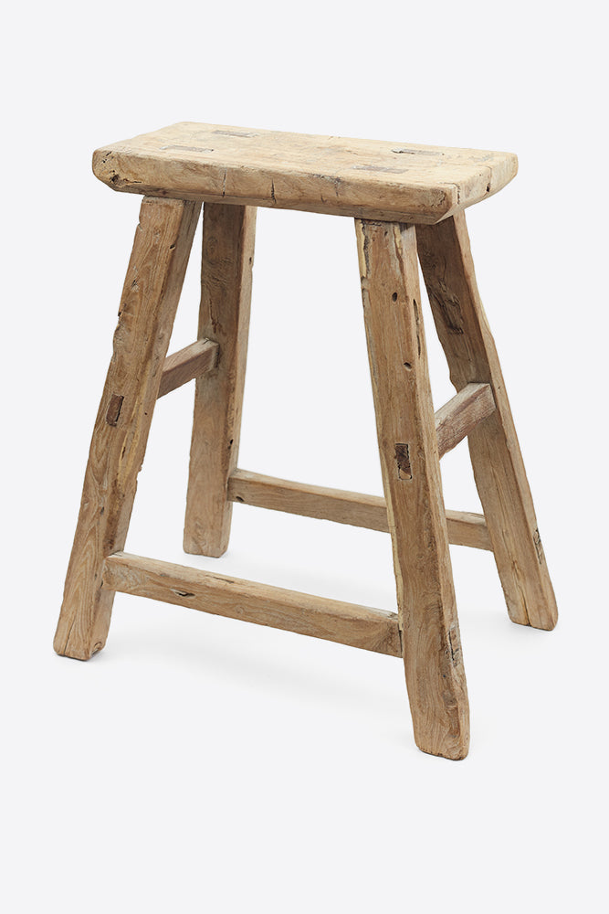 Vintage Elm Stool - Rectangular No.17 - Oggetto