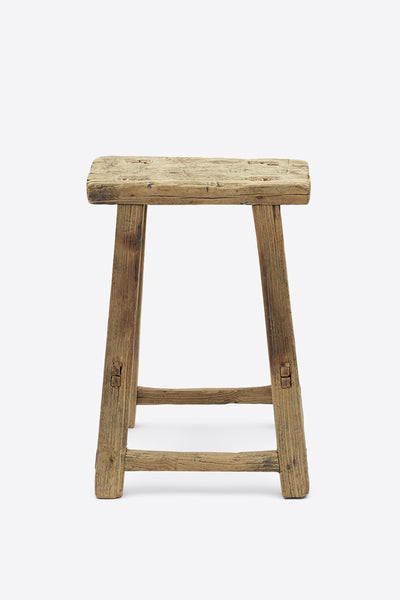 Vintage Elm Stool - Rectangular No.6 - Oggetto