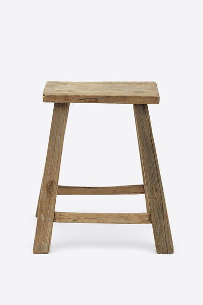 Vintage Elm Stool - Rectangular No.8 - Oggetto