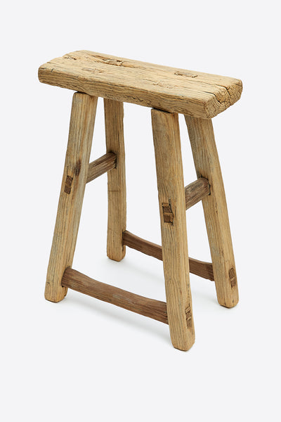vintage rustic elm stool rectangular number 5 1