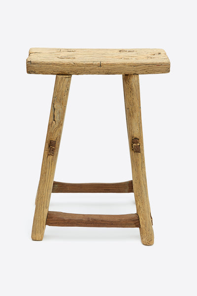 vintage rustic elm stool rectangular number 5 2