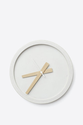 Concrete Wall Clock - White - Oggetto