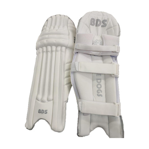 "BDS 2020 Batting Pads ""White/Silver"""