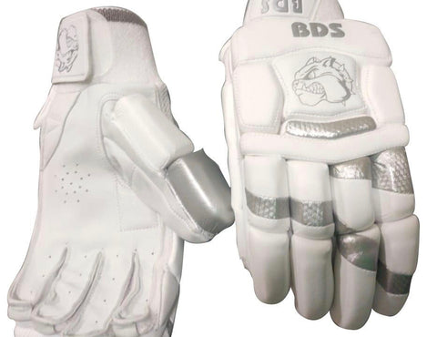 "BDS 2020 Batting Gloves ""White/Silver"""