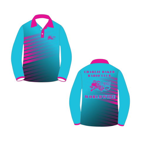 Blue/Pink Long Sleeve Shirt - Charlie Baker Radio Club