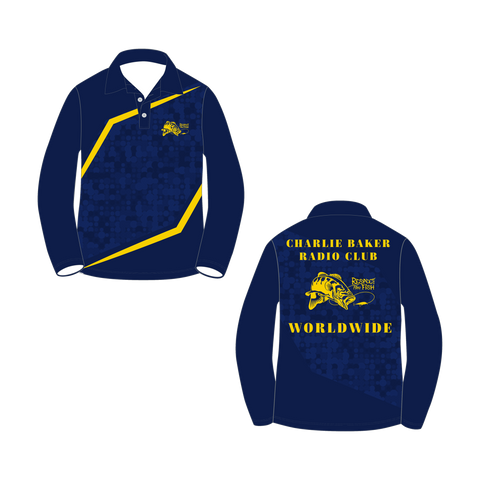 Blue/Yellow Long Sleeve Shirt - Charlie Baker Radio Club