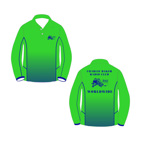 Green/Blue Long Sleeve Shirt - Charlie Baker Radio Club