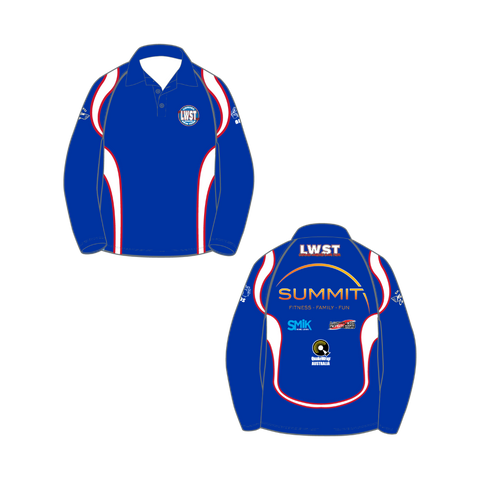 Long Sleeve Polo - Lismore Workers Swim Team