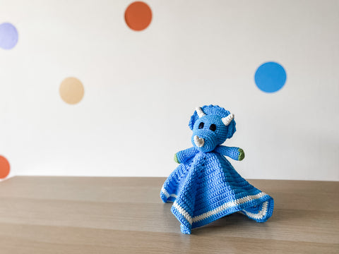 Hoops & Stitches - Triceratops Lovey