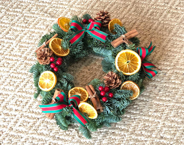 [Fresh & Dried Arrangement] Orange & Cinnamon Wreath