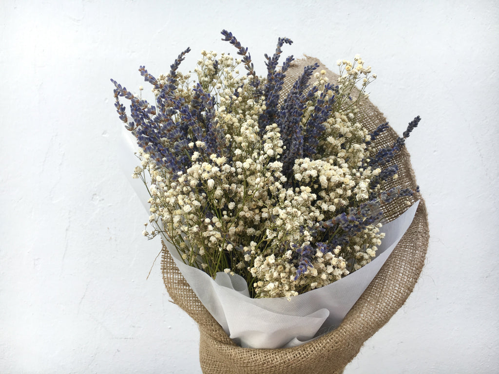 Dried Baby S Breath Lavender Bouquet Bloom Room