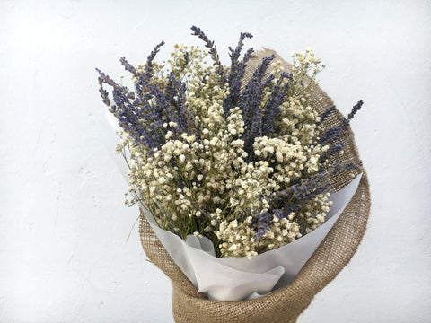 Dried Baby's Breath & Lavender Bouquet