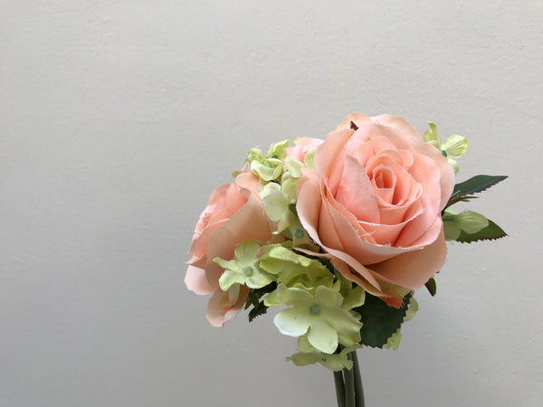 Faux Rose & Hydrangea Bunch