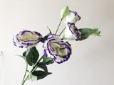 Faux Eustoma- Purple-tipped
