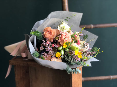 **From The Flower Fields - Bouquet in Soft Tissue**