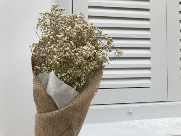 [V-Day] Dried Baby's Breath (Burlap-Wrapped)